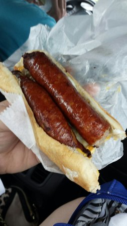 Helen's Sausage House: Why order a single, you'll just regret it.