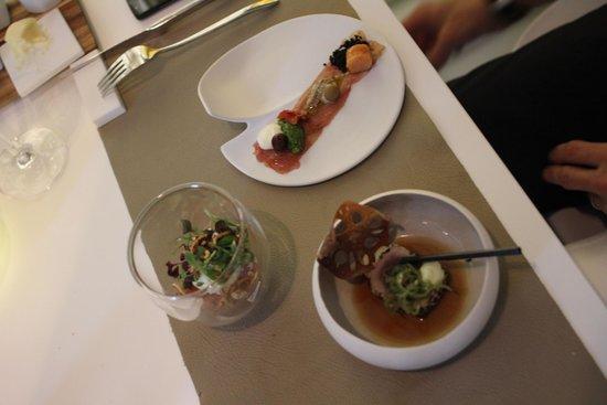 Spaans Dak: Trio of tuna from the fish menu.
