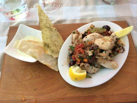 Marc's Mediterrean Cuisine & Garden: Grilled Calamari with Chorizo