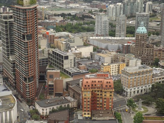 Vancouver Lookout: View from the tower lookout in Vancouver