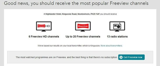 Highlander Hotel: Freeview