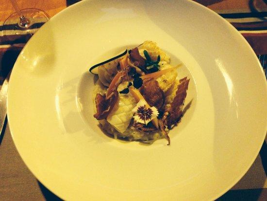 Le 17 : Le risotto calamar. (un vrai régal)