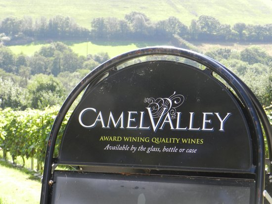 Camel Valley Vineyard: the entrance to the vineyard