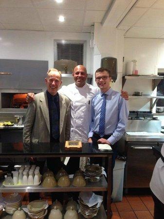 Restaurant Sat Bains: The man himself with us!
