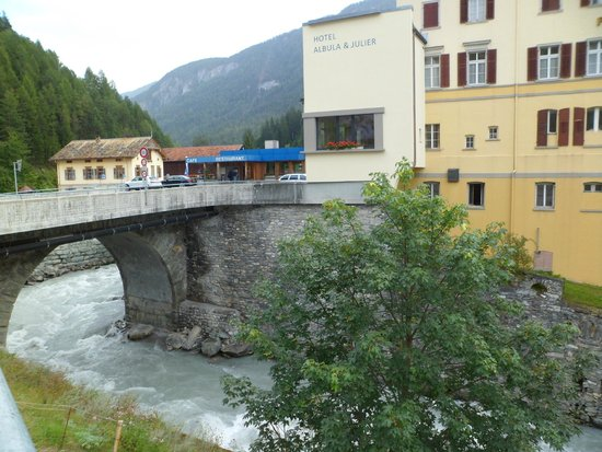 Hotel Albula & Julier: View from across the river