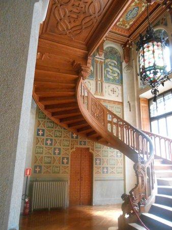 Castel Savoia: La scala panoramica