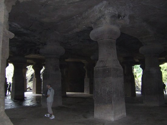 Elephanta Island, Indien: elefant temple on the island