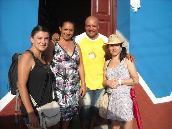 Hostal Zamora: souvenir avant de quitter Tico et Martha