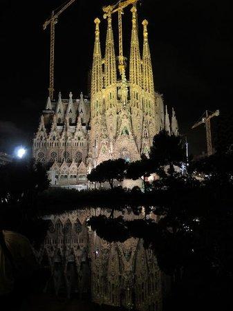 Barcelona Japanese Official Tourist Guide: サグラダファミリア夜景