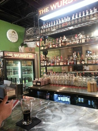 The Wurst Bar: updated bar section
