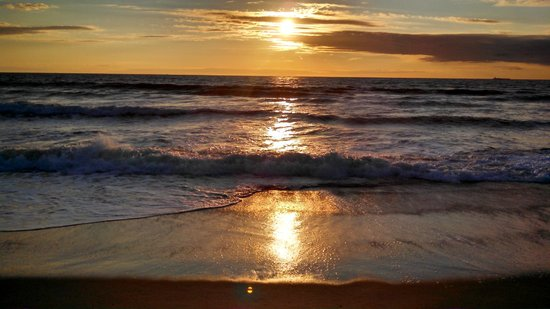 BeachWalk at Sea Bright: Walked out of my room and across to the beach at sunrise on Sunday at this is what greeted me!