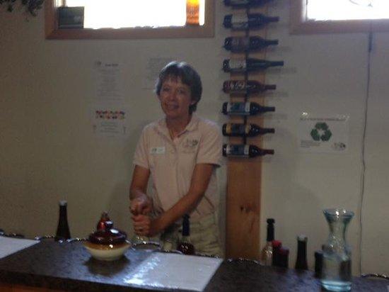 JD Wine Cellars - our hostess & JD Wine Cellars - our hostess - Picture of JD Wine Cellars Macedon ...