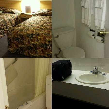 Rodeway Inn and Suites: Bedroom, sink, bathroom