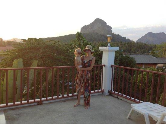 Nadivana Serviced Apartments: view from the balcony