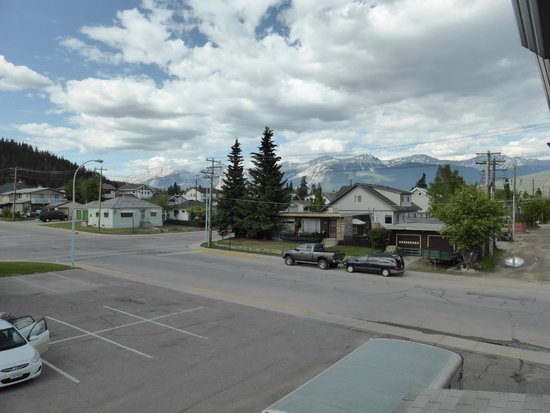 Mount Robson Inn: uitzicht downtown Jasper