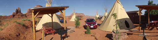 Two of the tipis