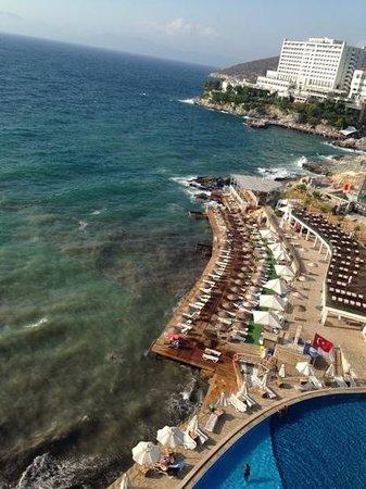 Charisma De Luxe Hotel: view of my balcony