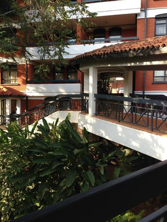 Heri Heights Serviced Apartments: Trees and walkway