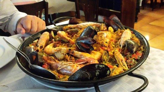Restaurante La Palmera : Paella di mare