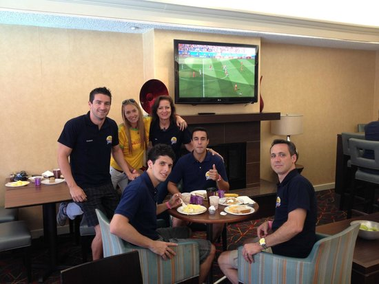 Residence Inn Anaheim Placentia/Fullerton: Acompanhando os Jogos do Brasil