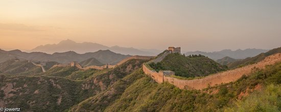 Jinshanling Great Wall: Sunset at Great Wall