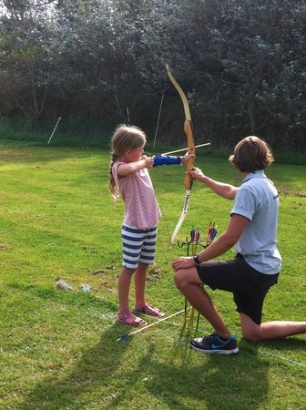 Archery lessons at Hendra Holiday Park
