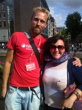 SANDEMANs NEW Europe - Amsterdam: La mia amica Ilaria con Onno, fantastica guida per le strade di Amsterdam