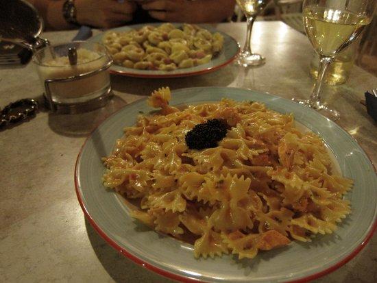 Raffael: Salmon pasta with caviar