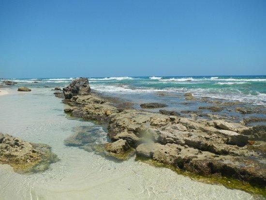 Playa Chen Rio: Shallow areas