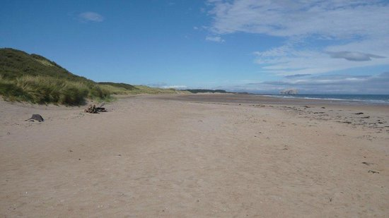 McCraes's B&B: The beach near Tyninghame which is worth a visit