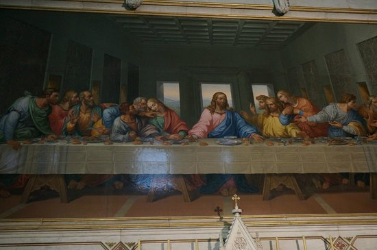 "Minoritenkirche : Мозаика ""Тайная вечеря"""
