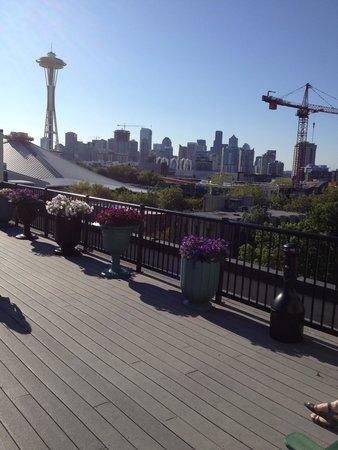 Mediterranean Inn : Dwontown Seattle from rooftop deck