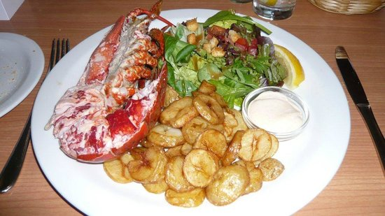 Blarcreen House: Lobster for dinner in Oban
