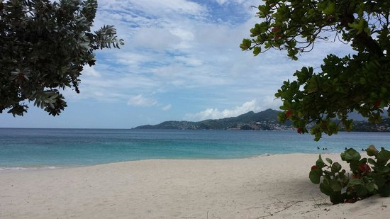 Spice Island Beach Resort: The view of St George from the beach.