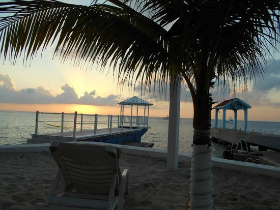 Hotel Cozumel and Resort: My view from the beach next to the dive dock and gazebo