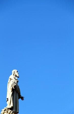 Iglesia de Mármol (Iglesia de Federico): Statue sur la façade