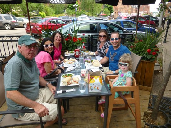 Casa Mia Restaurant: The patio at Casa Mia - nice setting in the heart of Charlottetown