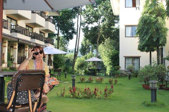 Atithi Resort & Spa: jardin
