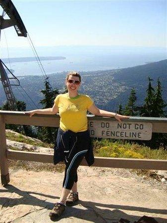 Grouse Mountain Skyride: Já no alto da Grouse Mountain