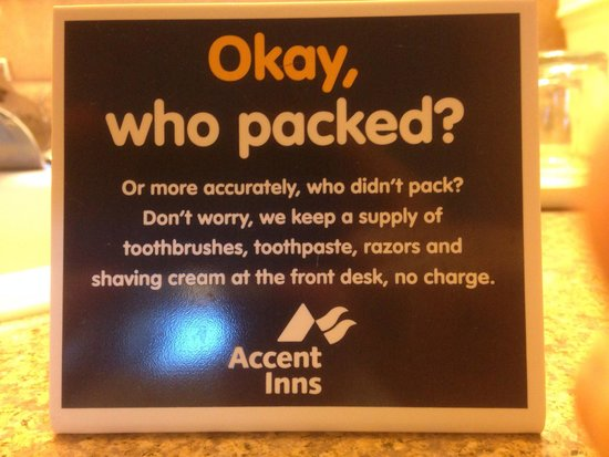 Accent Inn Vancouver Airport: No need to say more.. :-)