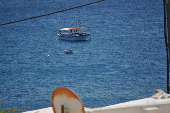 Kamari Beach Hotel: the view from my balcony