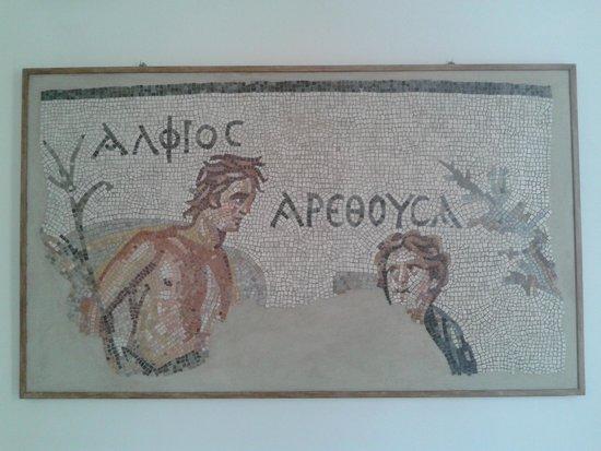 """Museo del Papiro """"Corrado Basile"""": mosaico"""