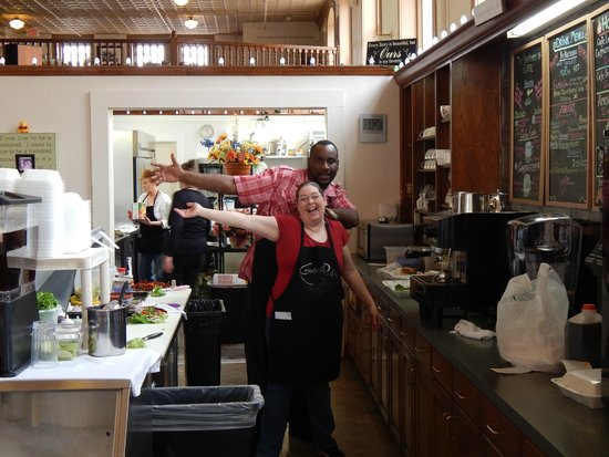 Central Perks: Happy staff, Harry and Debbie