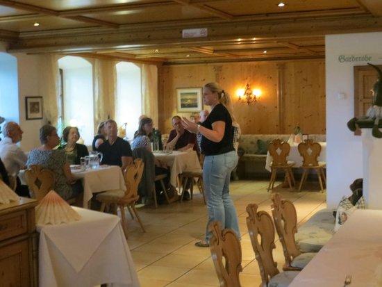 European Castles Day Tours: Carolin instructing us in German dining!
