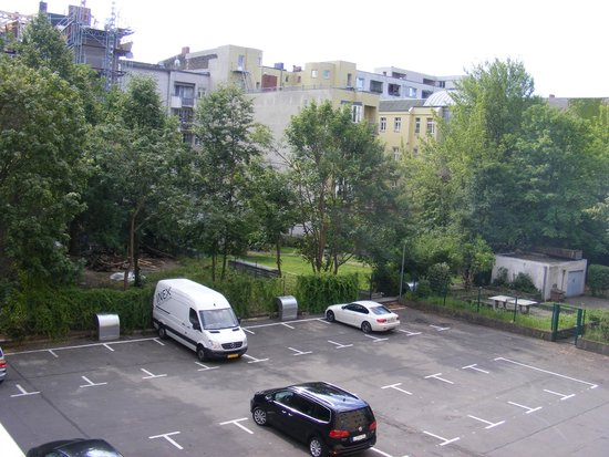 View From The Room At The Hotel Parking Picture Of Novum Hotel Aldea Berlin Centrum Tripadvisor