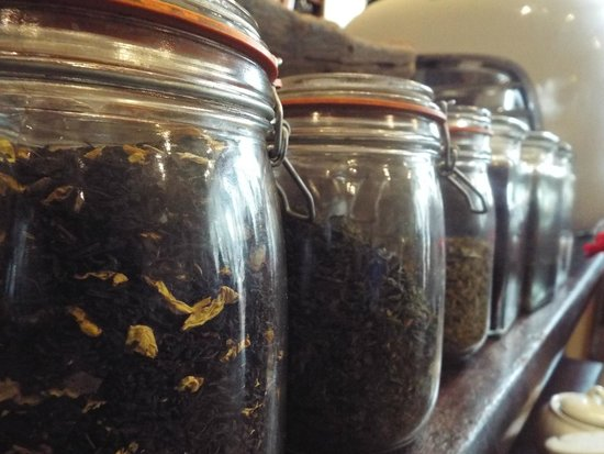 T H Roberts Coffee Shop: tea herbs