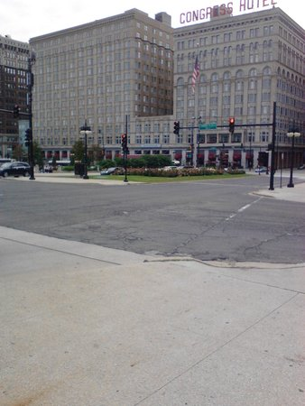 The Congress Plaza Hotel and Convention Center: front of hotel