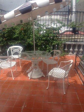 Hotel Casa Gonzalez : Terrance for my room