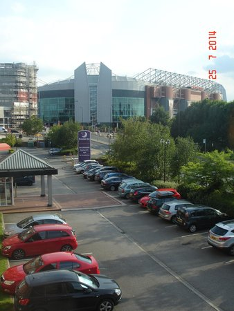 Premier Inn Manchester Old Trafford Hotel: View of Manchester United stadium from the room