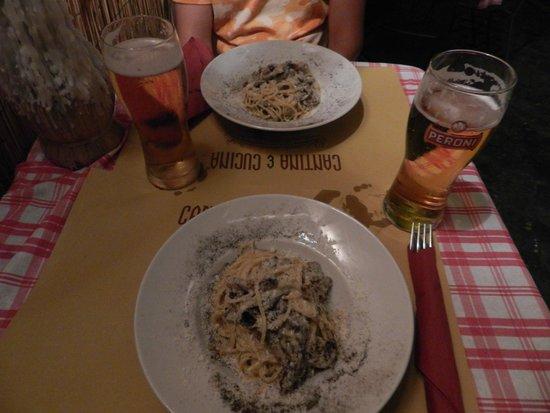 Cantina & Cucina: Spaguetti carbonara: Buenísimos